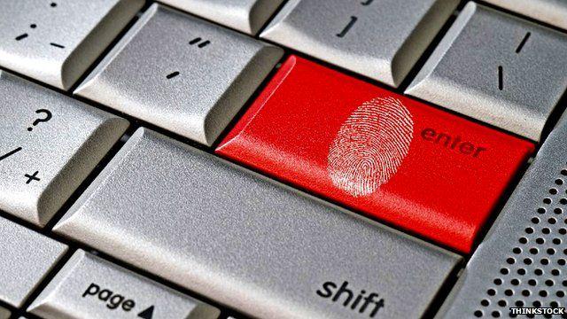 Fingerprint on keyboard