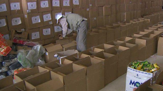 Iraq charity distribution warehouse