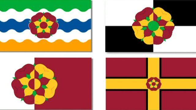 Designs for Northamptonshire flag