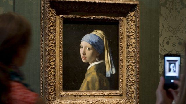One of the Mauritshuis' most famous exhibits, The Girl With A Pearl Earring, by Johannes Vermeer