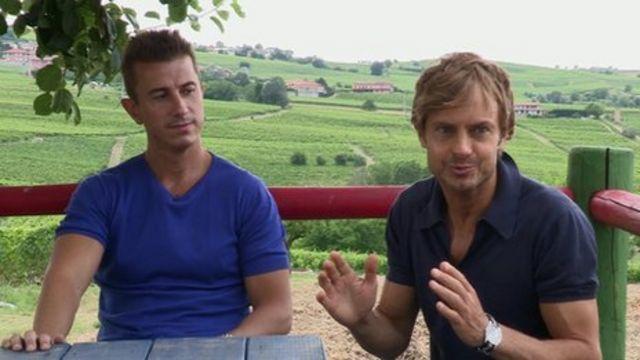 Federico Grom and Guido Martinetti on their farm
