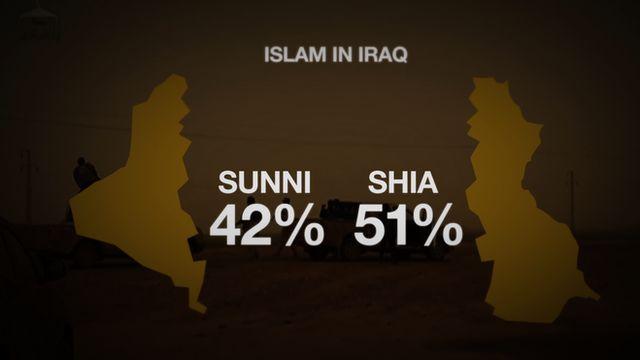 Graphic showing Sunni-Shia divide in Iraq