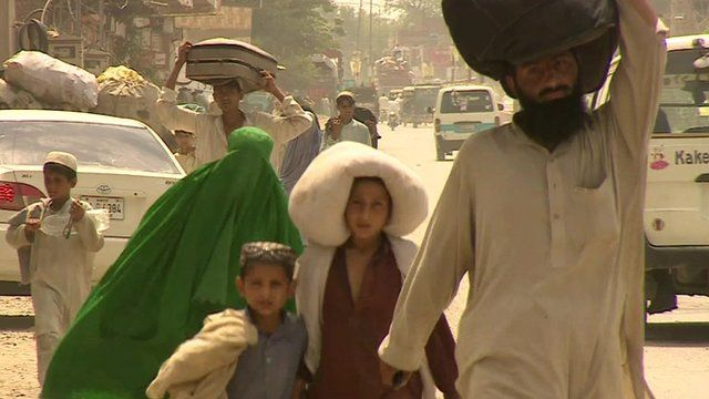 People flee in their homes in North Waziristan