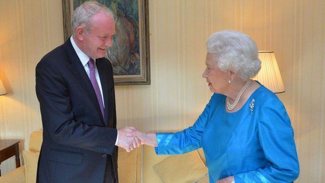 Martin McGuinness meets HM The Queen