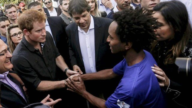 Prince Harry in Brazil's 'crack land'