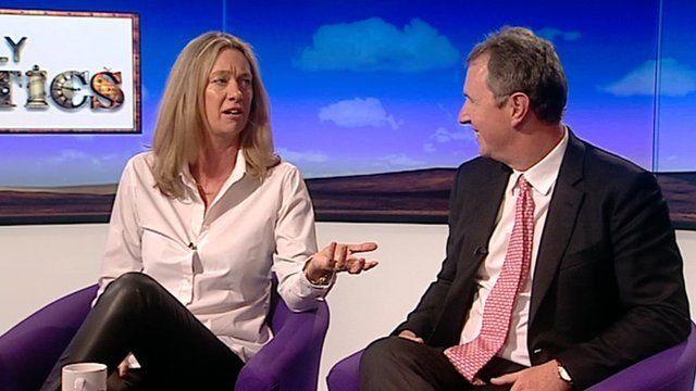 Justine Roberts and Nigel Evans