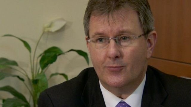 Jeffrey Donaldson said that violence and unlawfulness 'can be no part in what we're seeking to achieve'