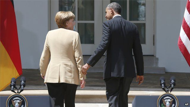 President Barack Obama and German Chancellor Angela Merkel