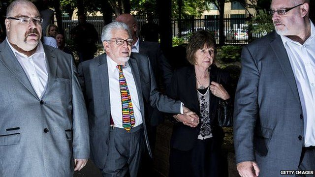 Rolf Harris arriving at Southwark Crown Court on 4 July 2014
