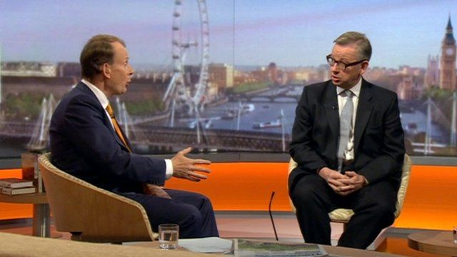 Andrew Marr interviews Michael Gove