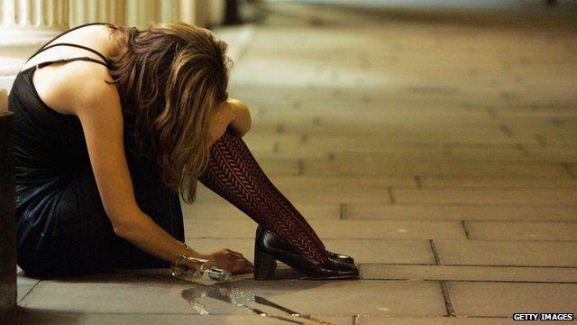 A drunk girl