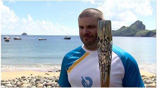 Baton bearer Colin MacLeod, St Kilda
