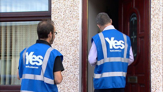 Yes Scotland campaigners
