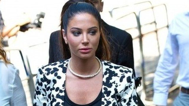 Tulisa Contostavlos arrives to face drug charges at Southwark Crown Court on July 16, 2014