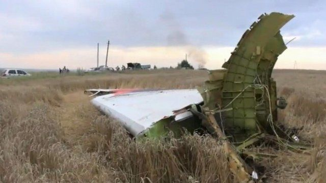 Wreckage of Malaysia Airline flight MH17