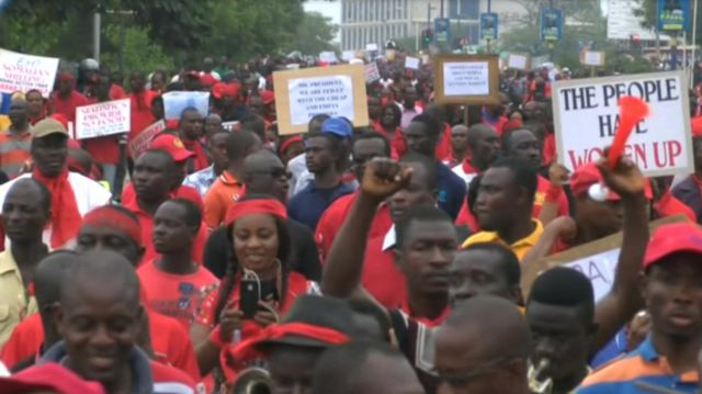 Protesters in Ghana