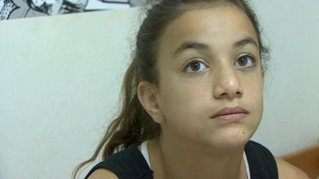 A young Israeli girl