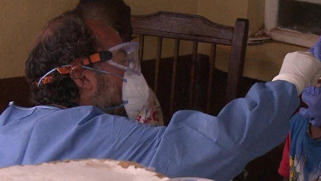 Ebola clinic in Sierra Leone