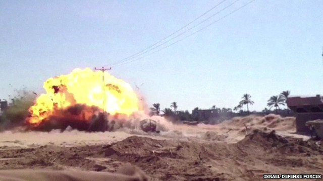 Tunnel offensive - still from Israel Defence Forces video