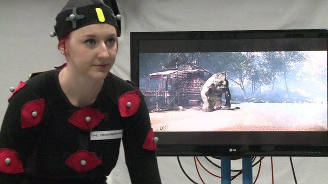 Motion capture technology is used in films and computer games