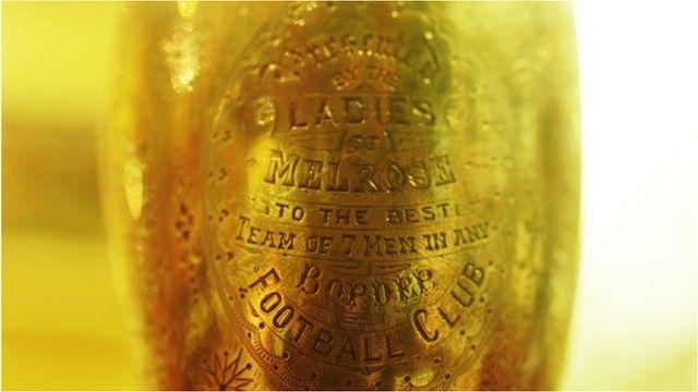 Melrose Sevens trophy detail