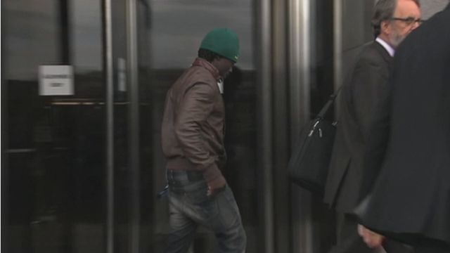 Francois Etoundi leaving court in Glasgow