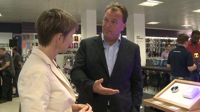 Dixons Carphone CEO Sebastian James unveils a new store