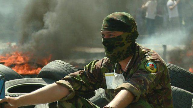 A protester