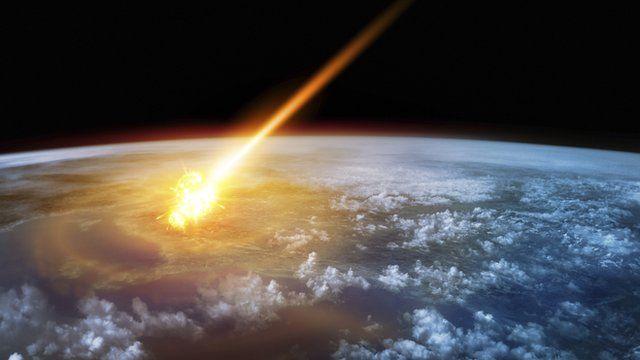 Asteroid striking earth visualisation
