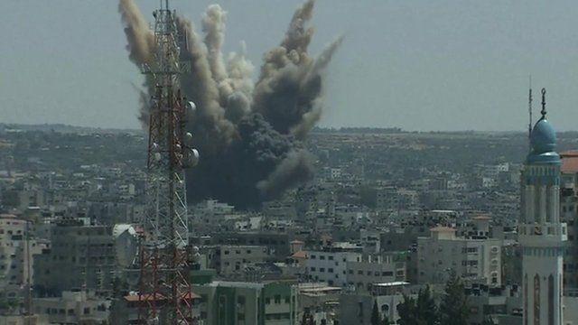 Air strikes over Gaza