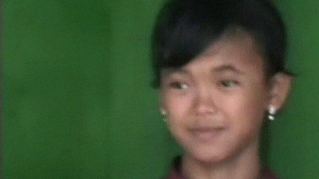 Child swept away during 2004 tsunami