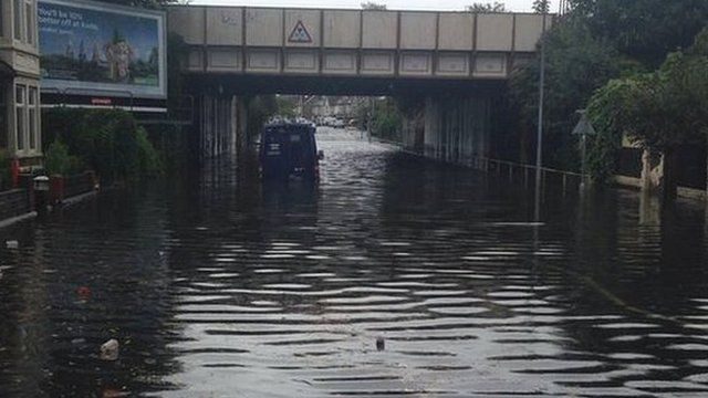 G4S van stuck on flood