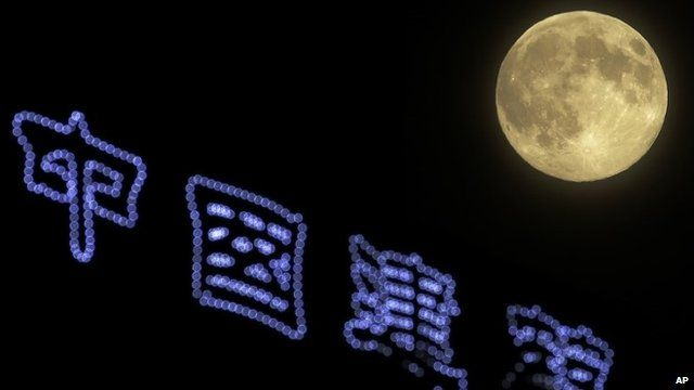 Supermoon over China