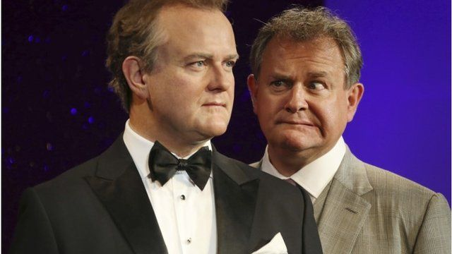Hugh Bonneville and his Wax figure double
