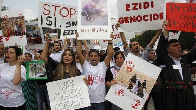 Kurdish activists rally outside the White House in Washington,