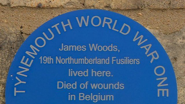Tynemouth WW1 plaque