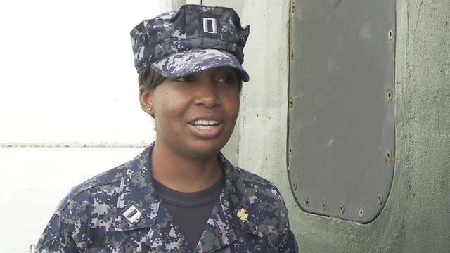 Submariner Lieutenant Jennifer Charlton on board USS Michigan