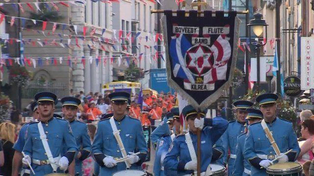 Ballymoney Unionist band parade