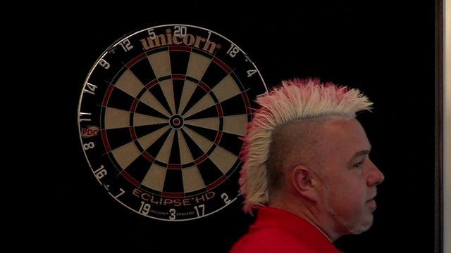 Darts player Peter 'Snakebite' Wright