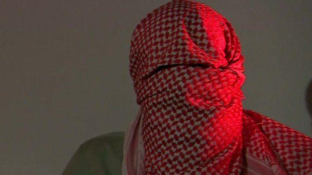 British Muslim disguised with headscarf