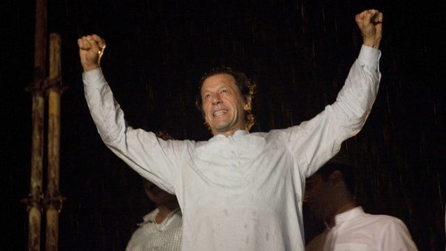 Imran Khan, a Cricketer-turned politician and head of oppostion party Pakistan Tehrik-e-Insaf