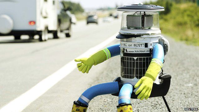 Hitch-hiking robot HitchBOT