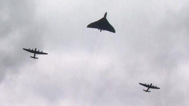 Lancaster bombers and Vulcan bomber