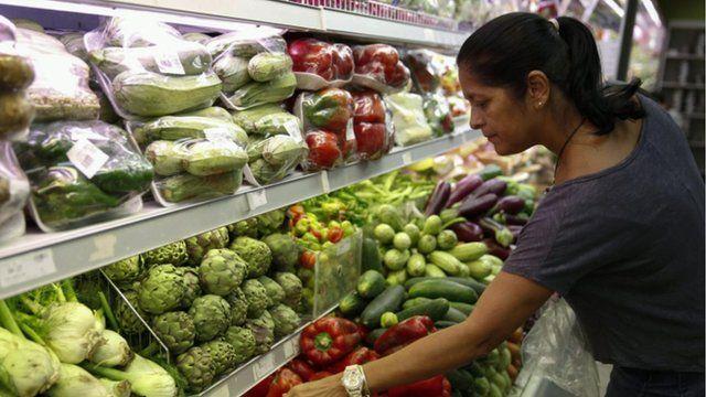 Female shopper in Venezuela