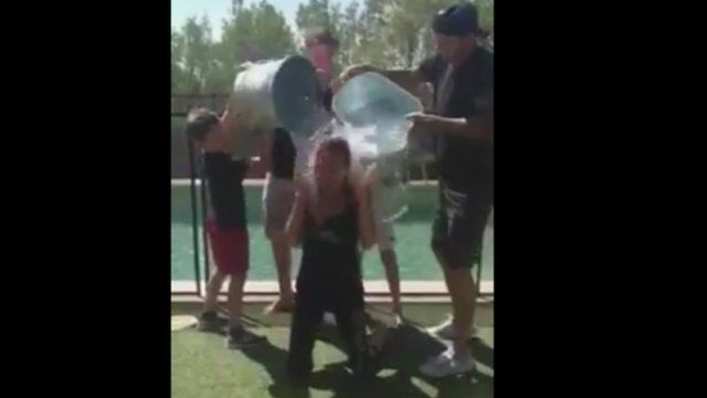 Victoria Beckham accepts the ALS ice bucket challenge