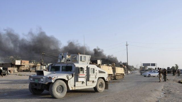 A convoy of the Iraqi security forces in Diyala province