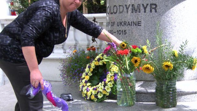 Tributes to fallen Ukrainians