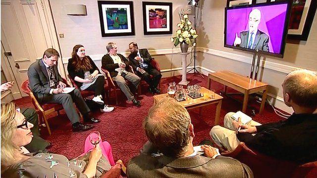 Scottish voters watching TV referendum debate