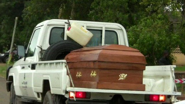 Car with coffin