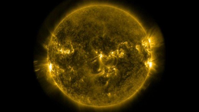 Image of solar flares